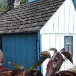 Drewniane chaty w Skępem