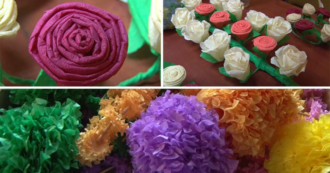 Tradycyjne kwiaty z papieru