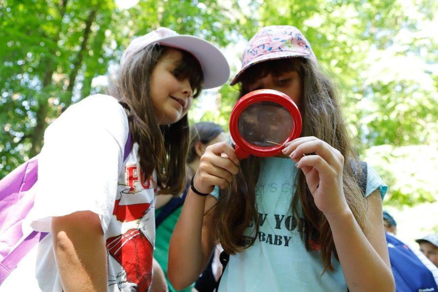 Uczniowie na zielonej szkole w Górznieńsko-Lidzbarskim Parku Krajobrazowym, fot. Mikołaj Kuras