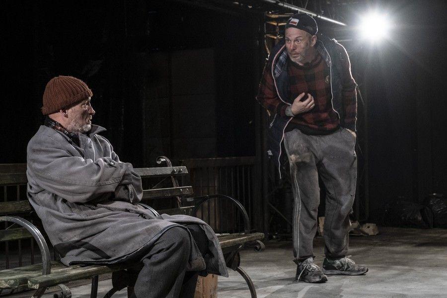 """Próba do spektaklu """"Antygona w Nowym Jorku"""" w Teatrze Horzycy, fot. Wojtek Szabelski"""