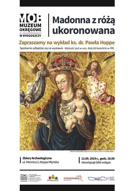 Plakat Madonna z różą ukoronowana