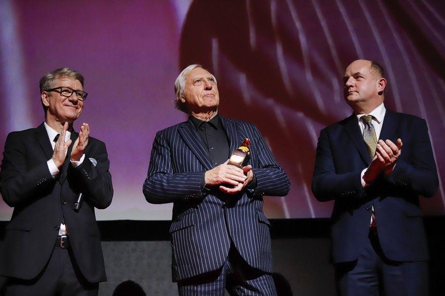 Podczas festiwalu Peter Greenaway odebrał nagrodę specjalną za całokształt pracy reżyserskiej, fot. Mikołaj Kuras