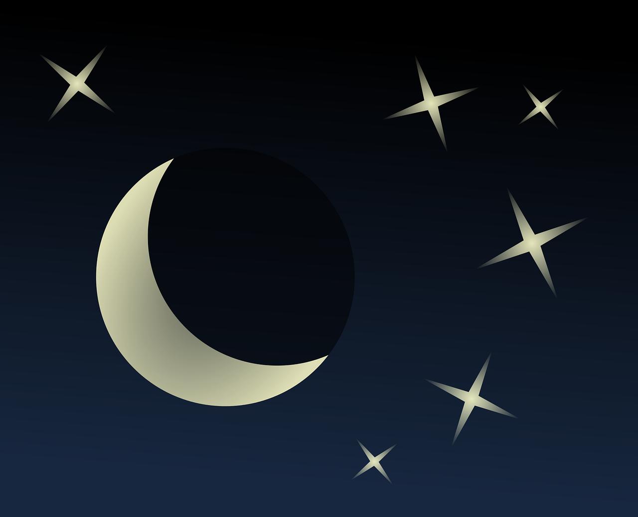 gwiazdy księżyc