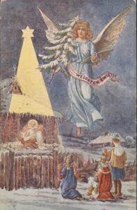 Kartka świąteczna z 1909 roku