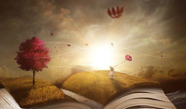 Książka, poezja, fantazja, Pixabay