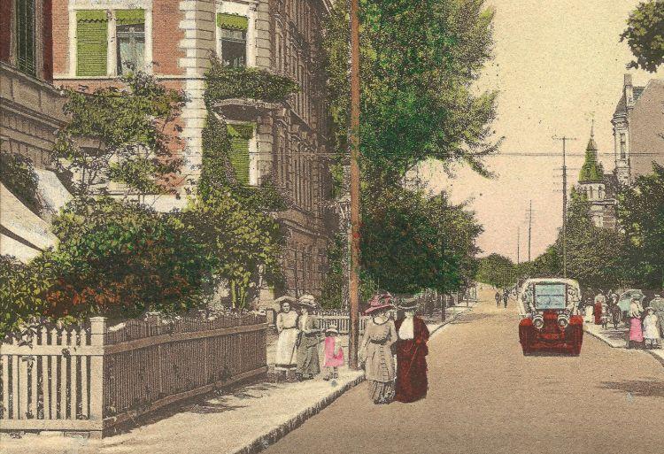 Fragment pocztówki z kolekcji Tamary i Krzysztofa Klunderów