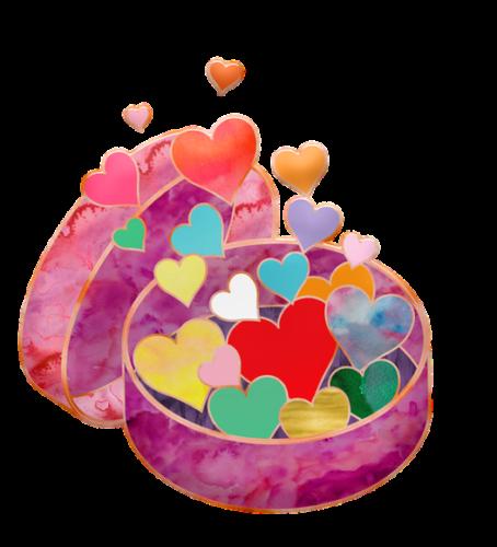 Prezent walentynkowy, grafika, Pixabay