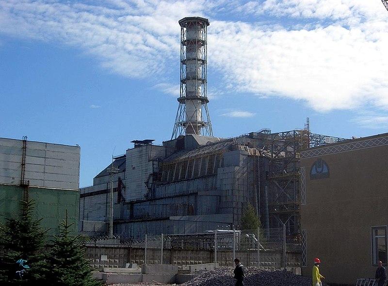Blok czwarty reaktora w Czarnobylskiej Elektrowni Jądrowej, źródło: Wikimedia Commons