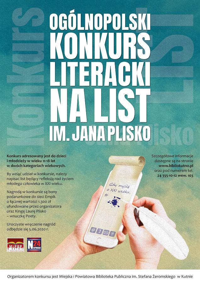 Plakat Konkurs im. Jana Plisko