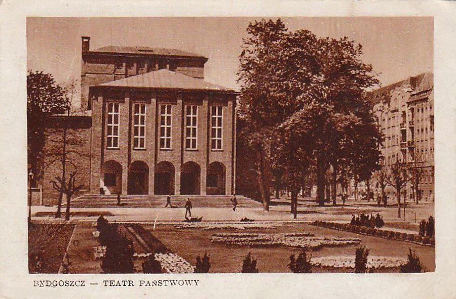 Teatr Polski w Bydgoszczy w 1950. Źródło Wikimedia Commons