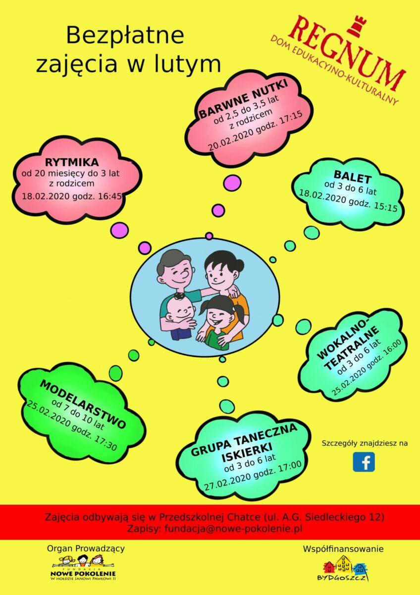 Plakat - oferta edukacyjna DEK Regnum na luty