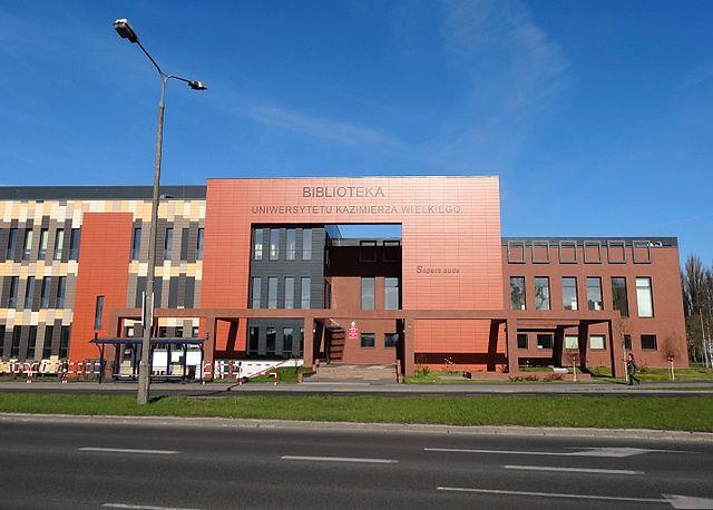 Biblioteka Uniwersytetu Kazimierza Wielkiego (zbud. 2012) przy ul. Ogińskiego w Bydgoszczy