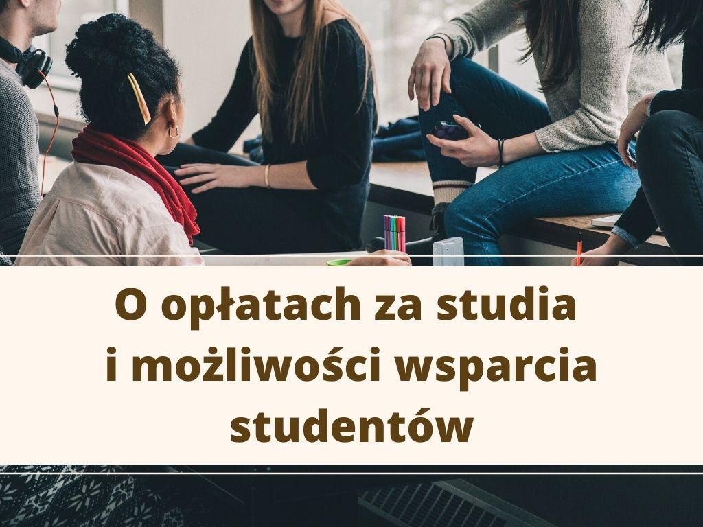 Informacja o opłatach za studia