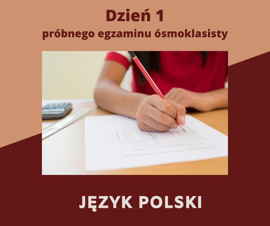 Próbny egzamin ósmoklasisty z języka polskiego