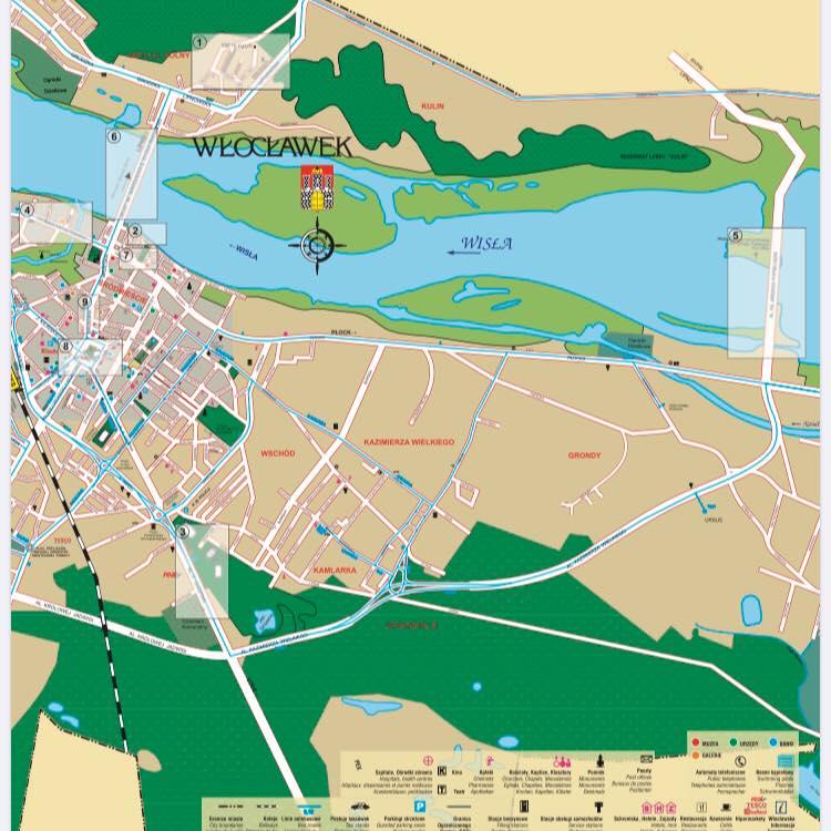 Włocławek mapa