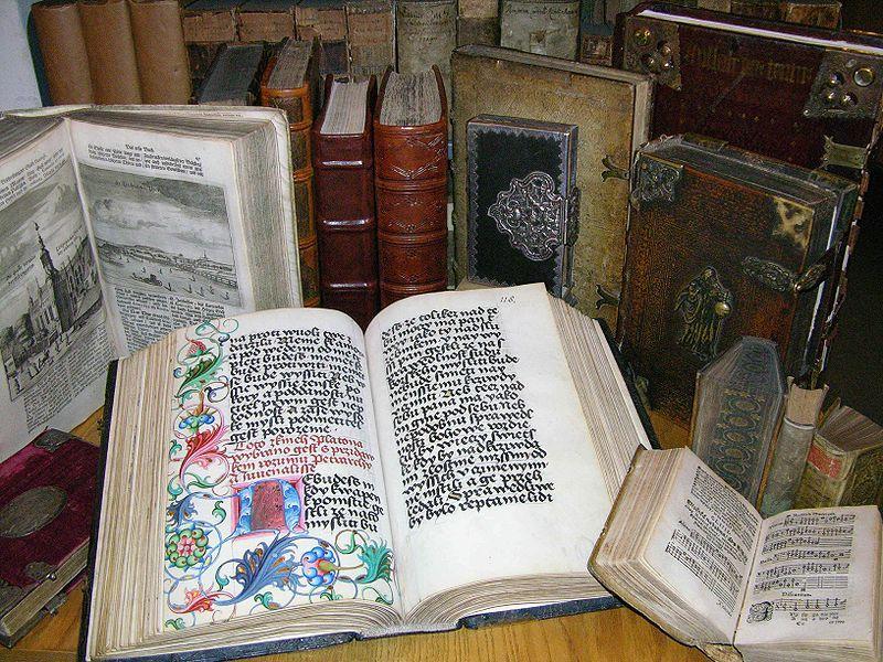 Fragment zabytkowej kolekcji Książnicy Kopernikańskiej, fot. Książnica Kopernikańska w Toruniu