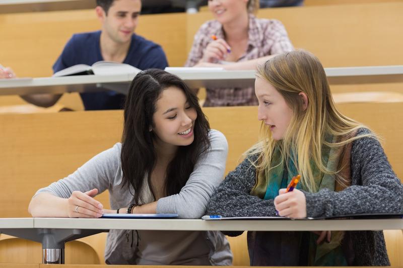 Studentki na wykładzie