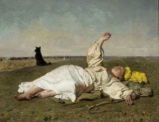 Józef Chełmoński, Babie lato, 1875, Muzeum Narodowe w Warszawie