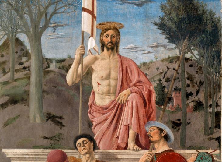 Piero della Franscesca Zmartwychwstanie (fragment obrazu)1