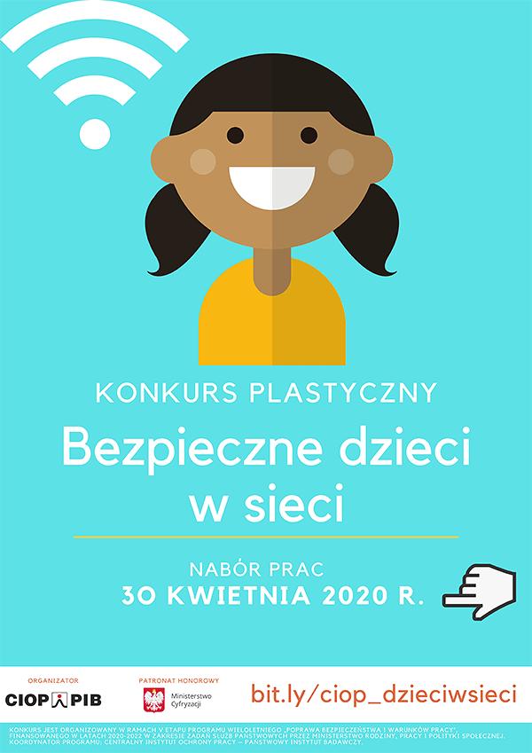 Bezpieczeństwo w sieci - konkurs plastyczny - plakat