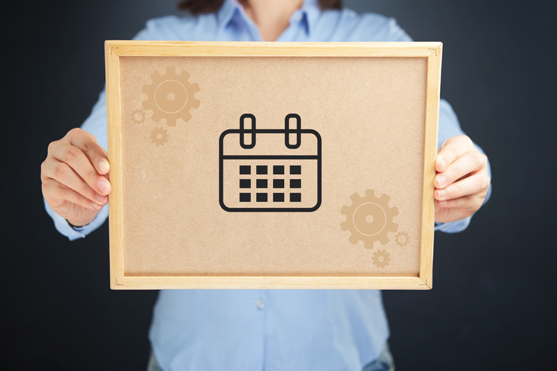 Tablica korkowa z ikoną kalendarza