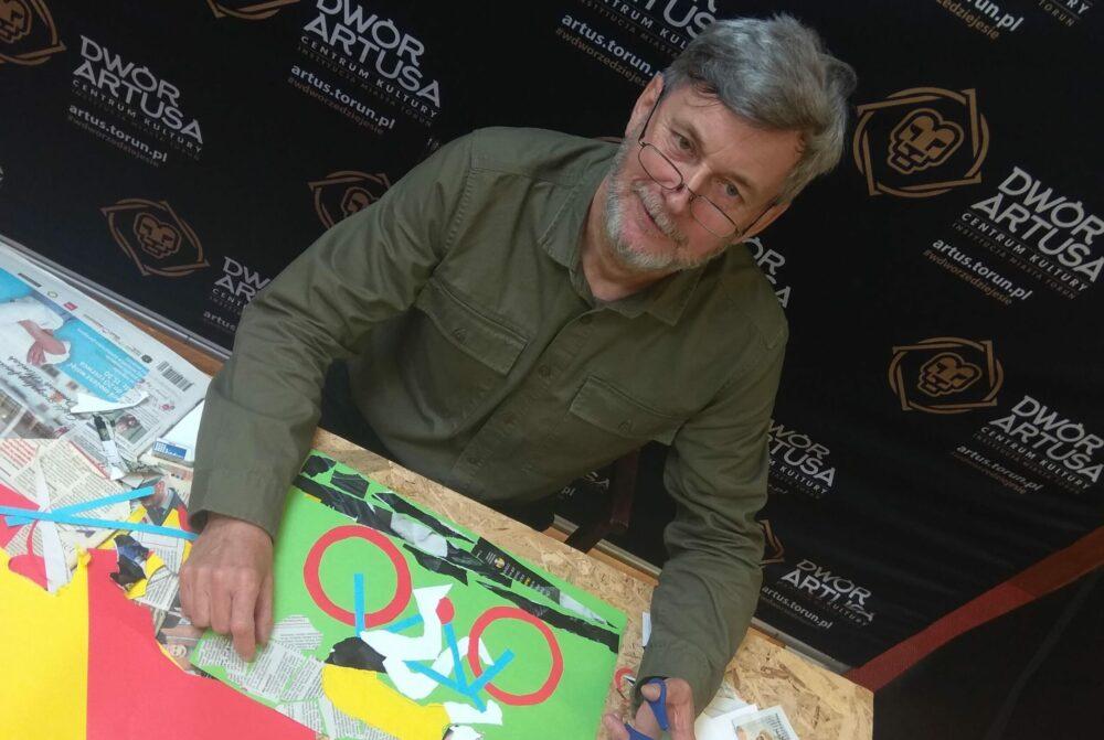 Technika kolażu - zajęcia z Panem Zbyszkiem