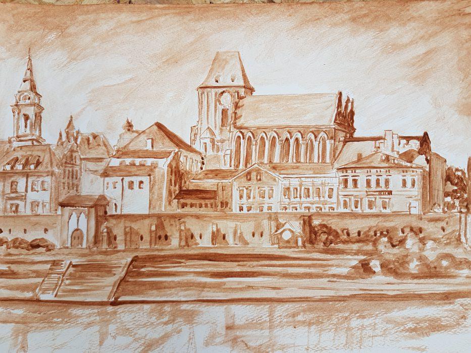 Artusowe DIY | Lawowanie z panem Zbyszkiem - Part 2. Obraz przedstawiający panoramę Torunia