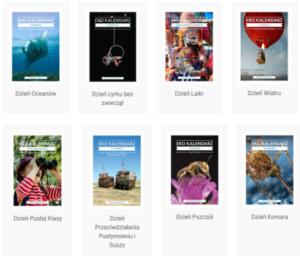 Przykłady pakietów edukacyjnych dostępnych na stronie Eko Kalendarz