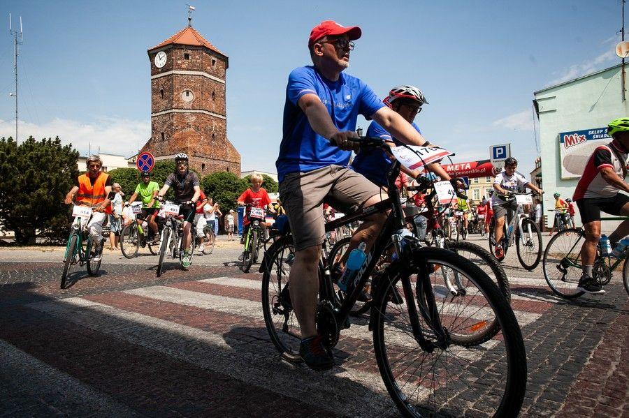 Rajd rowerowy w Żninie, fot. Filip Kowalkowski dla UMWKP