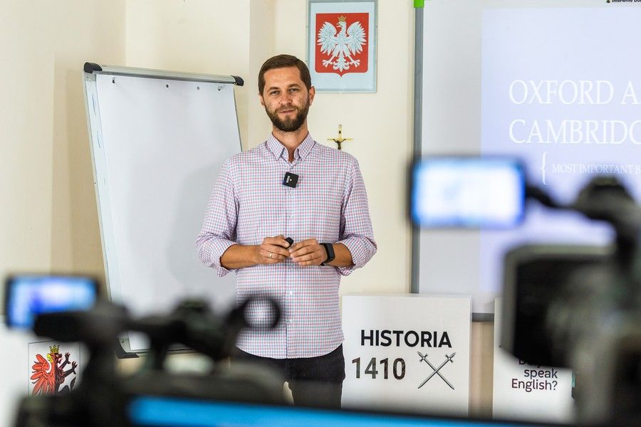 Lekcja angielskiego, Grzegorz Fidala, fot. Szymon Zdziebło/tarantoga.pl dla UMWKP