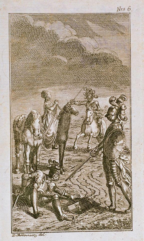 Pojedynek rycerzy, Daniel Chodowiecki, Berlin, 1789 (ze zbiorów MOT)