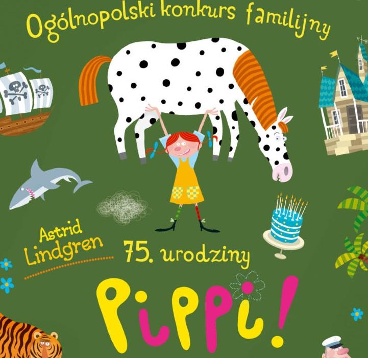 Plakat 75 urodziny Pippi