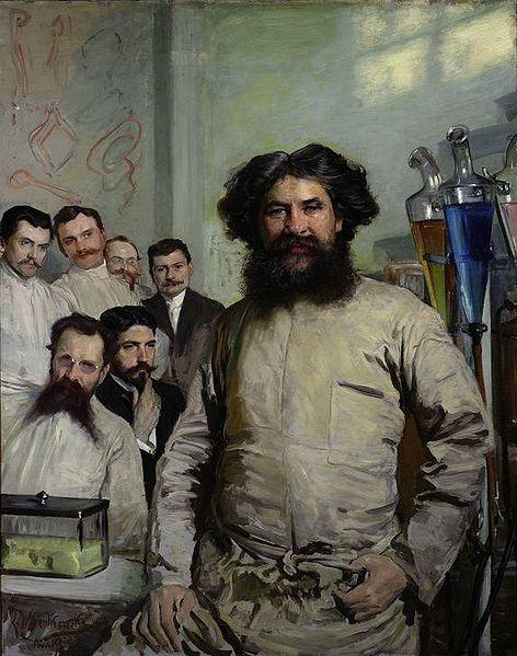 Leon Wyczółkowski - Portret dr. Ludwika Rydygiera z asystentami