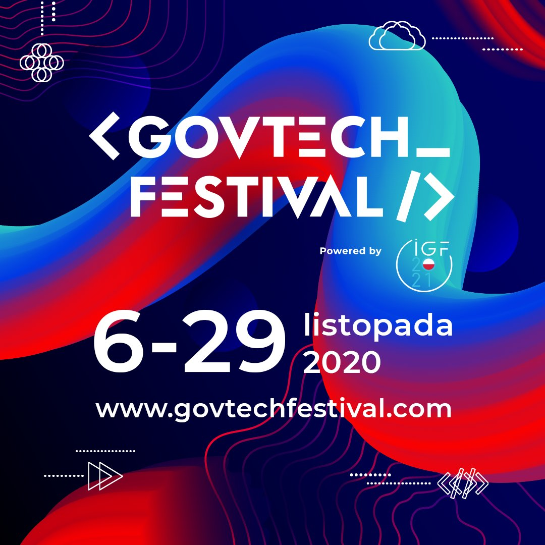 GovTech Festival plakat informacyjny