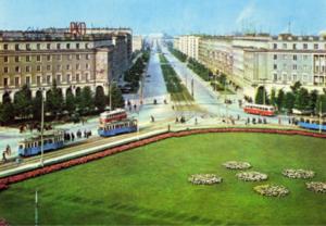 Nowa Huta, Kraków. Plac Centralny 1969. Sludge G Flickr. CC BY-SA 2.0