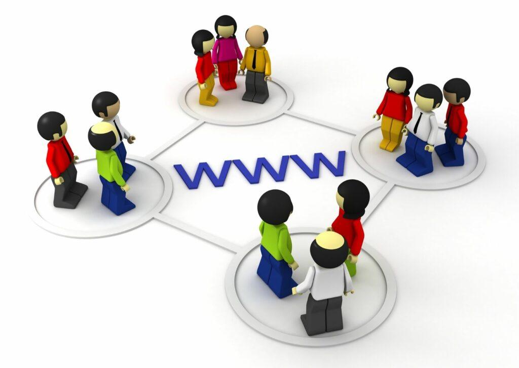 komunikacja za pośrednictwem internetu