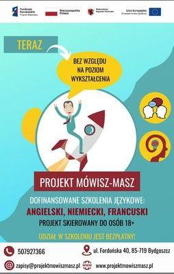 projekt Mówisz-masz plakat informacyjny