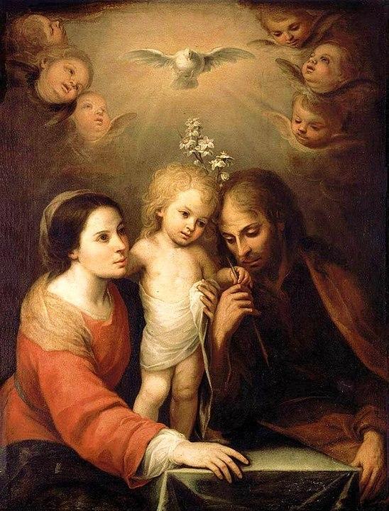 Juan Simón Gutiérrez (1634-1718) Święta Rodzina (1680) (domena publiczna)
