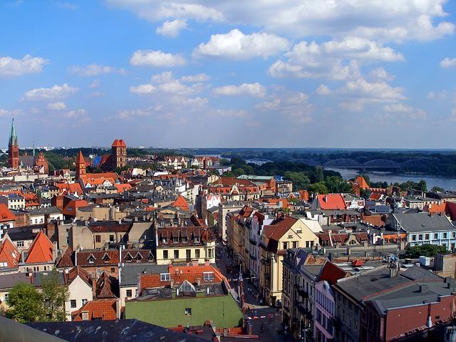 panorama toruńskiej starówki