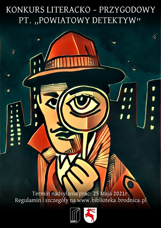 plakat konkursu Powiatowy Detektyw