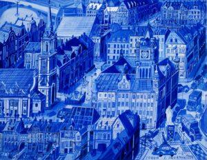 Edward Dwurnik, Toruń – Ratusz, 1994, olej, płótno, 128 × 166 cm Dzięki uprzejmości Muzeum Okręgowego im. Leona Wyczółkowskiego w Bydgoszczy