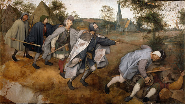 Pieter Brueghel, The parable of the blind (1568) - Wikimedia Commons (domena publiczna)
