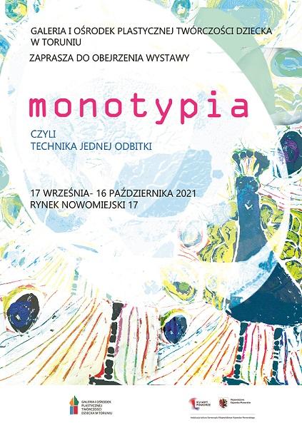 plakat - wystawa MONOTYPIA