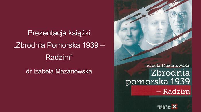 Zbrodnia pomorska 1939 Izabeli Mazanowskiej - okładka